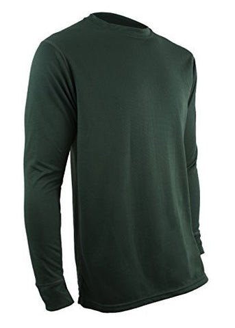 Polarmax Men's Double Base Layer Long Sleeve Crew Tee (Forst Green)