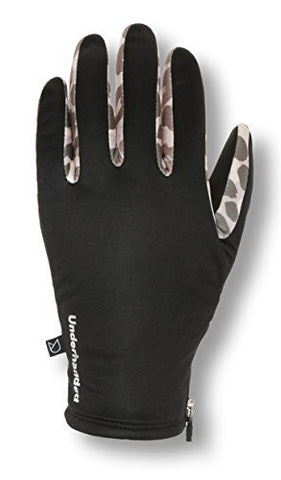 Underhanded Women's Cityscape Premium Cold Weather Gloves (3M Thinsulate, Touchscreen Compatible, Side Zip) (Large, Leopard)