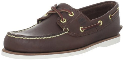 Timberland Men's Classic 2-Eye Boat Shoe, Dark Brown, 10.5 M