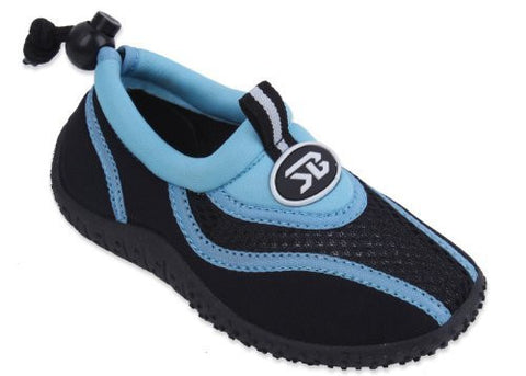 New Sunville Brand Toddler's Blue & Black Athletic Water Shoes Aqua Socks Size 10