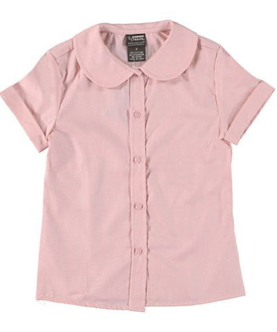 French Toast Short Sleeve Peter Pan Blouse (Feminine Fit) Girls