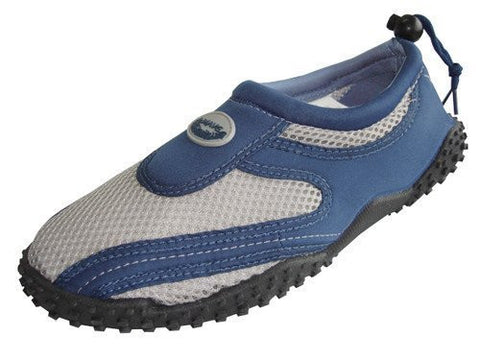 Mens Waterproof Wave Water Shoes (Navy/Grey, Size 9)