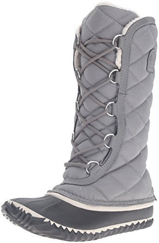 Sorel Women's Out N about Tall Snow Boot, Grey, 8 D US