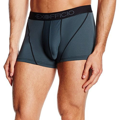 Exofficio Men's Give-n-go Sport Mesh 3in. Boxer Brief - Style 1241-2458 (Large, Phantom)