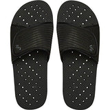 Showaflops Men's Antimicrobial Shower & Water Sandals - Black Slide 11/12