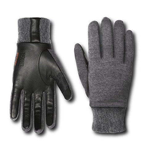 HONNS Women's Emma Gloves (Performance Italian Wool, European Lambskin Palm, Touchscreen Compatible) Grey S