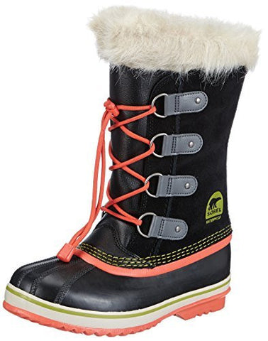Sorel Girls' Joan Of Arctic Waterproof Winter Boot Black 6 M US