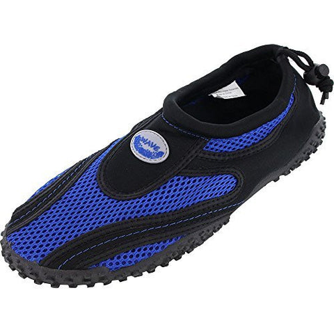 Easy USA Womens Aqua Wave Water Shoes (6, Black/Royal 1185L)