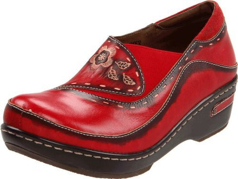 L'artiste by Spring Step Women's Burbank Mule, Red, 39 EU/8.5 M US