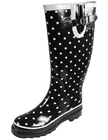 Sunville Women's Mid Calf Waterproof Rubber Garden Rainboots