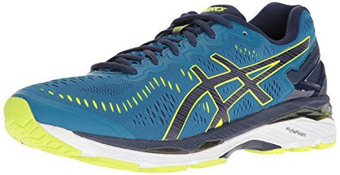 ASICS Men's Gel-Kayano 23 Running Shoe, Thunder Blue/Safety Yellow/Indigo Blue, 9.5 M US