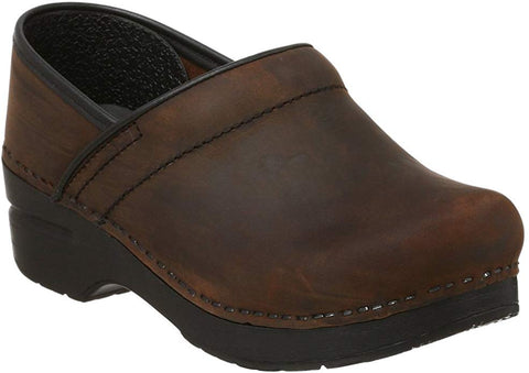 Dansko Women's Professional Clogs Antique Brown Black