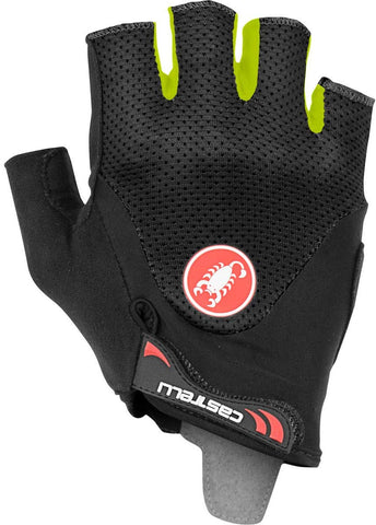 Castelli Arenberg Gel 2 Bike Gloves Black Yellow