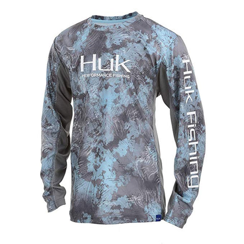HUK Youth Icon X Camo Long Sleeve Shirt SubPhantis Glacier