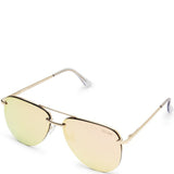 Quay Australia THE PLAYA Women's Sunglasses Aviator Frameless Sunnies