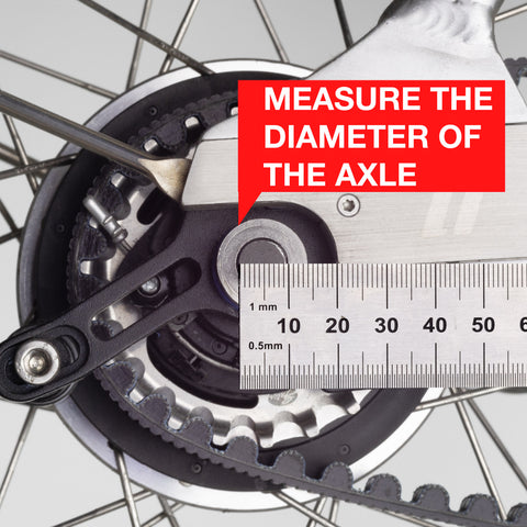 Measuring wheel nuts for Hexnut bike wheel lock