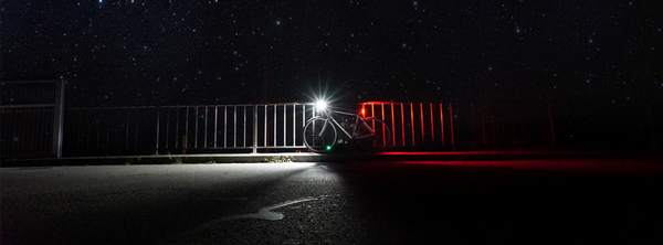 Bike at night with lights