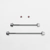 Hexlox Road Front & Rear Silver Skewer w. Hexlox 5mm