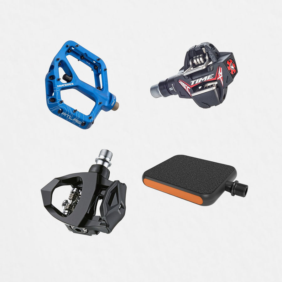 Bike Pedals secured against theft with Hexlox