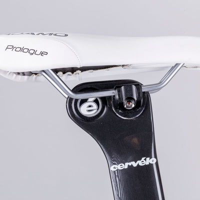 Hexlox Bike Saddle Security Set Installed  on Cervelo Seatpost