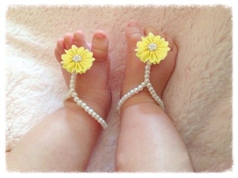 Flower Bead Baby Sandal (0 to 12 months)