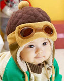 Burpsandboogies.com Aviator Hat Cap With Flaps (0 to 12 months)