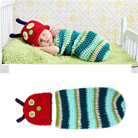 Caterpillar Bug Set Multi Color Handmade Baby Photography Prop (0 to 6 months)