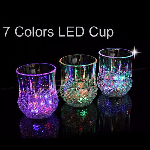 LED light up cup glass Bachelorette Bachelor (lights up when you add liquid)