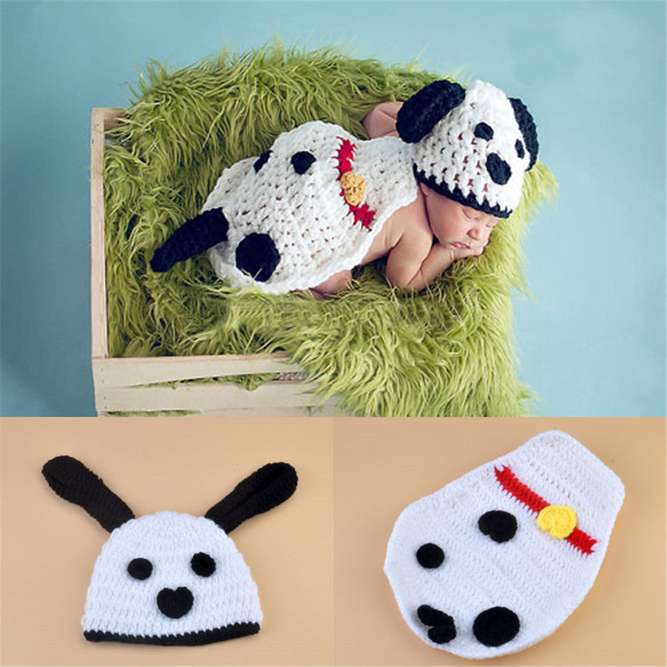 Dalmation Dog Set Handmade Photography Prop (0 to 6 months)
