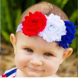 Headband Red White Blue (0 to 12 months)