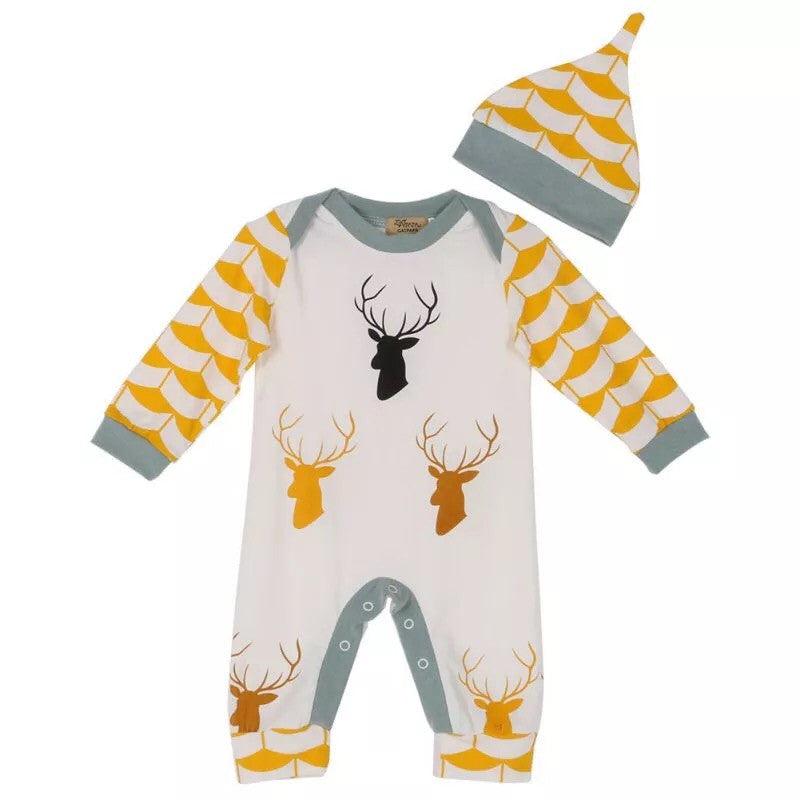 Baby deer outfit clothes romper (0-3 months)