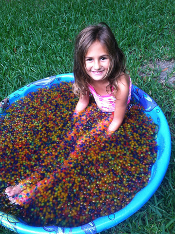 Water beads fun for kiddie pool or bathtub
