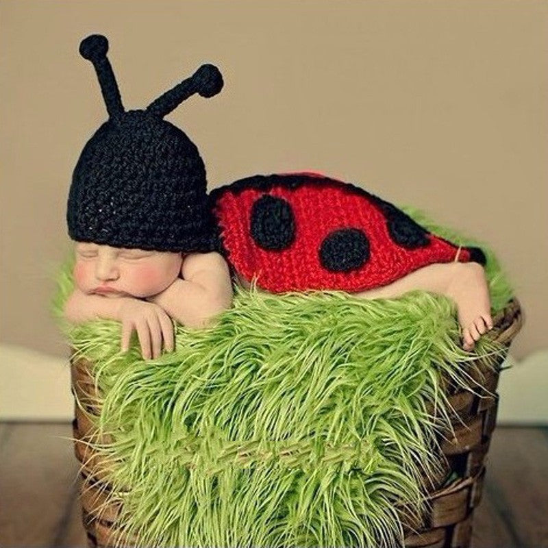 Ladybug Set Red Black Handmade Baby Photography Prop (0 to 6 months)