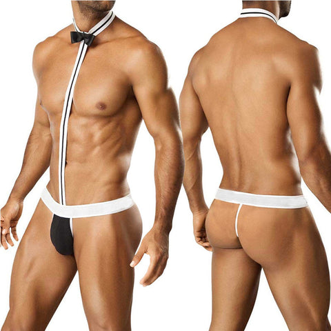 Tuxedo Mankini Thong Underwear For Bachelor Bachelorette Party