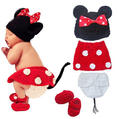 Minnie Mouse Handmade Diaper Set (0 to 6 months)