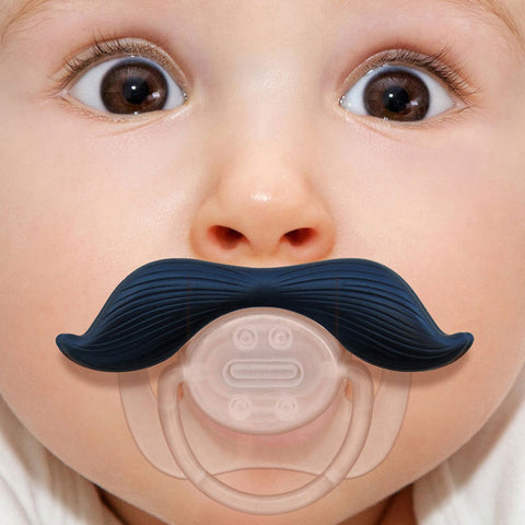 Baby Silicone Funny Mustache-Teeth Pacifier