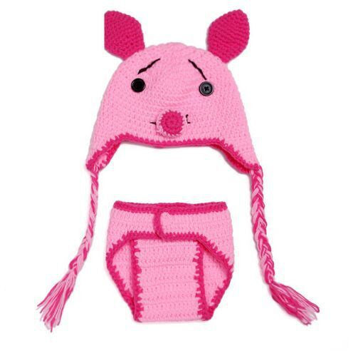 Pig Pink Baby Handmade Diaper Set (0 to 6 months)