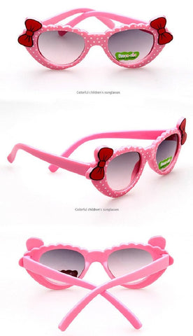 Girl Sunglasses Shades With Bows and Dots (0 to 24 months)