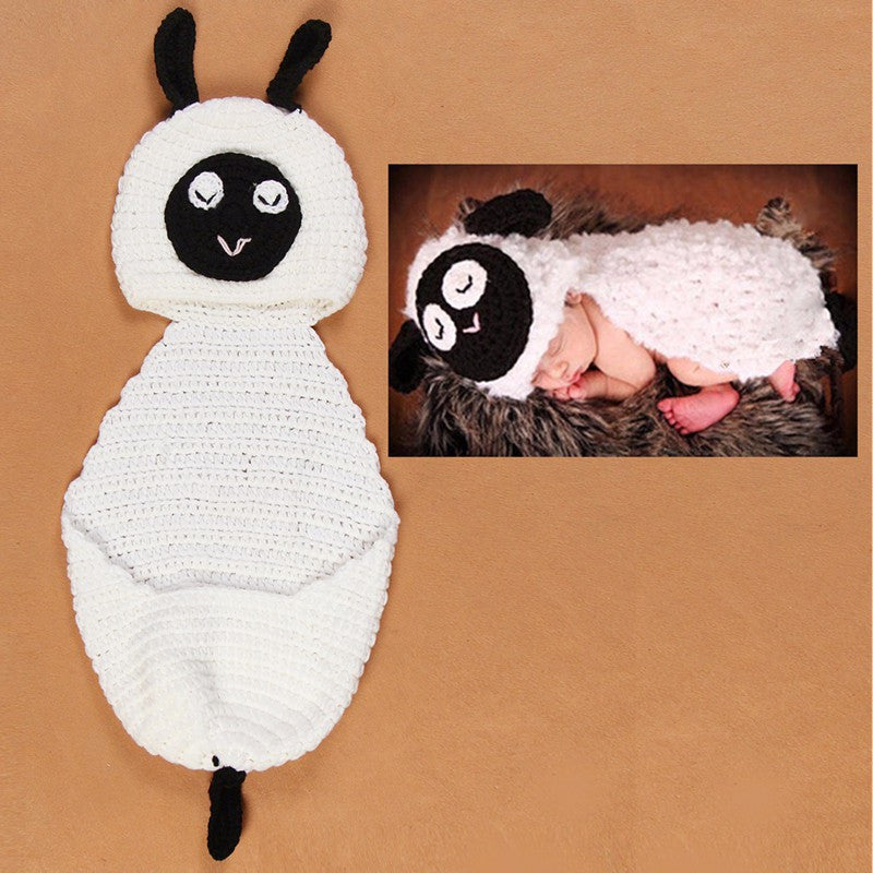 Lamb Sheep Set White Black Handmade Baby Photography Prop (0 to 6 months)