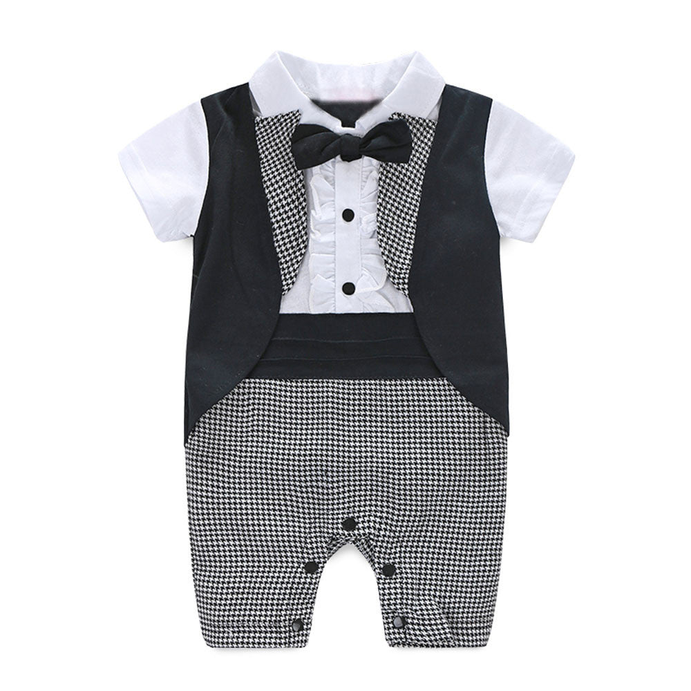 Baby Boy Tuxedo Christening Baptism Wedding Suit (fits 0 to 6 months)