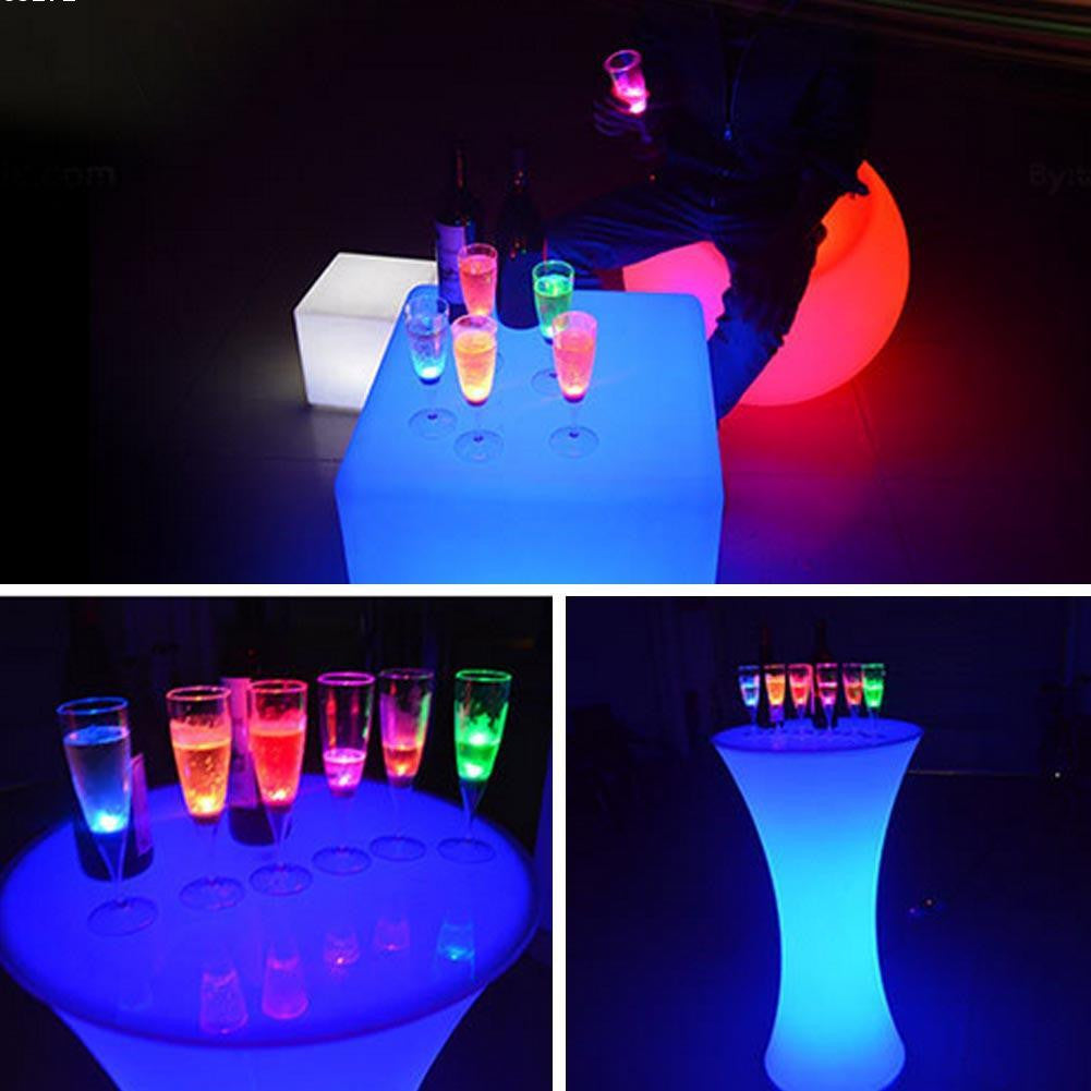 LED light up wine champagne glass cup (lights up when you add liquid)