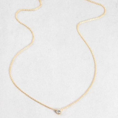 Diamond Necklace | 14k