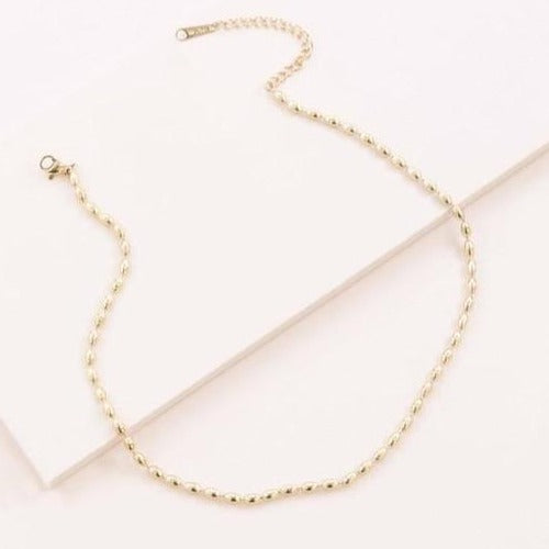 14k Gold Bubble Necklace