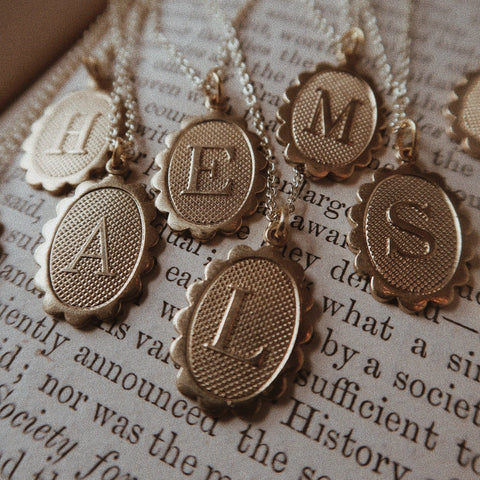 Amour Brass Charm Necklace