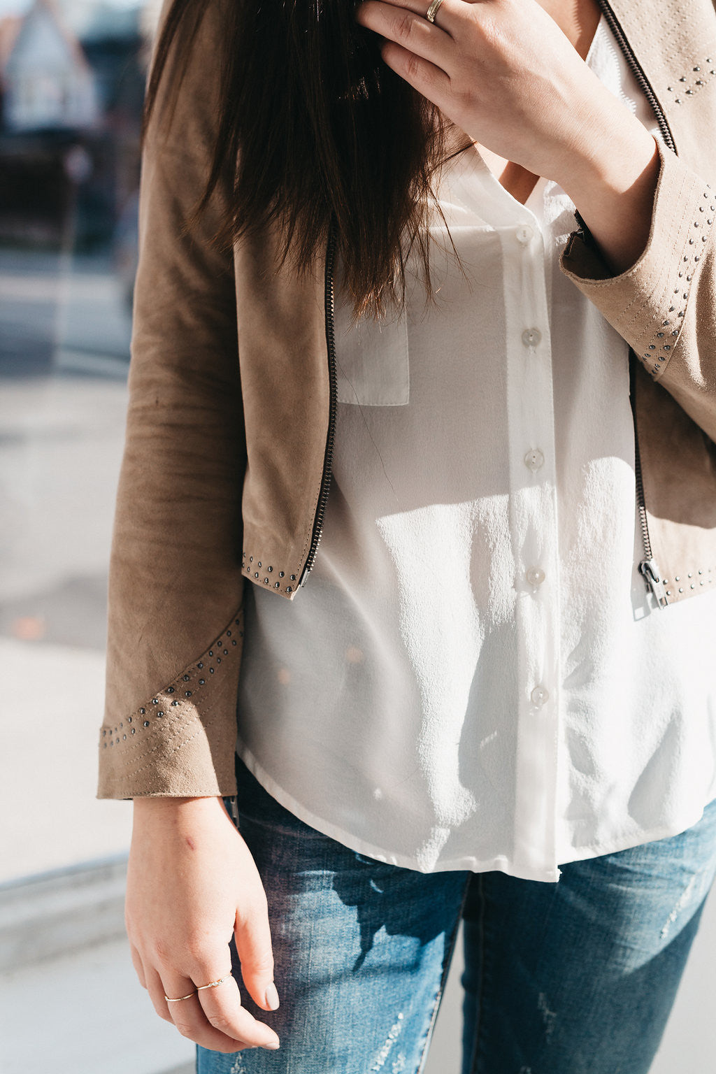 The Zinnia Jacket Latte