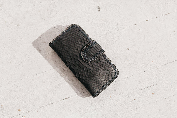 Ipanema Leather Chain Wallet Black
