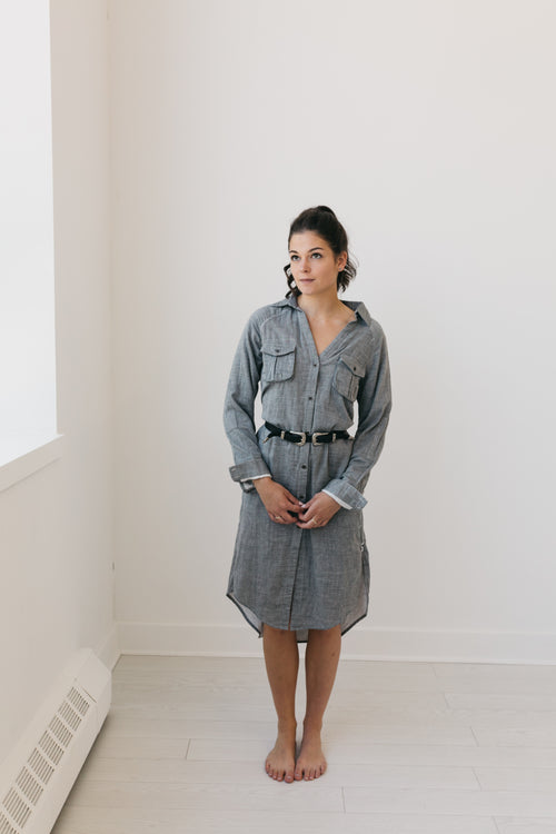 Dirty Work Shirt Dress by OneTeaspoon Australia