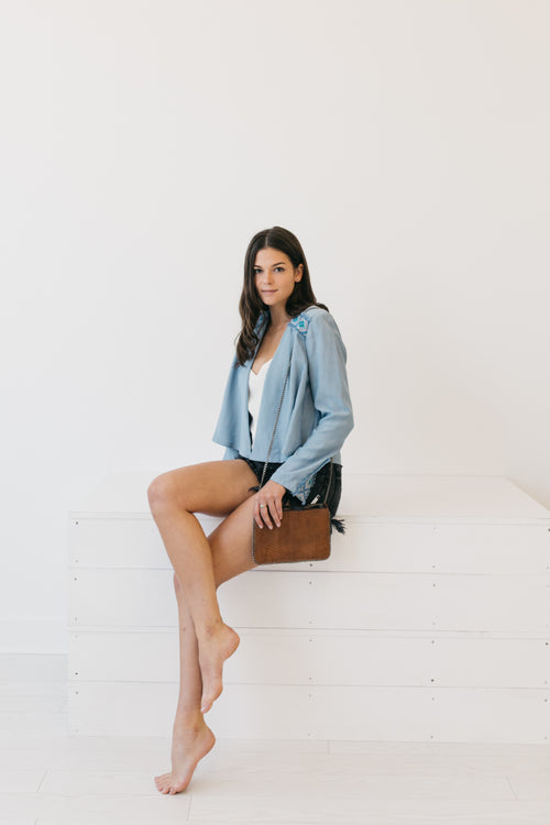Brooke Chambray Jacket by Ellie Mae Laut Shop Women's Clothing
