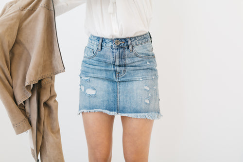 2020 Mini Denim Skirt by OneTeaspoon