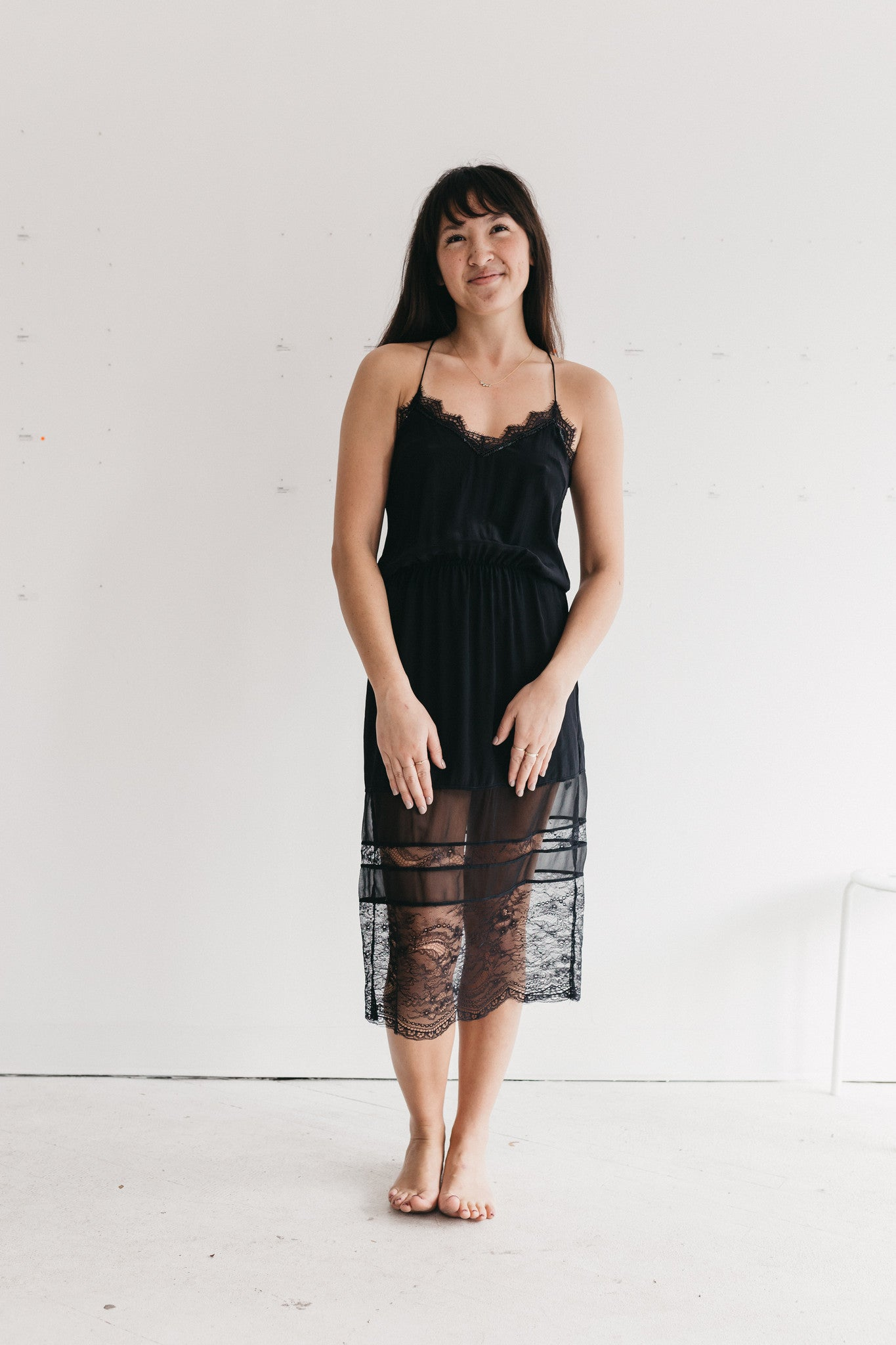 Uma & Leopold Peony Dress Black Lace Women's Fashion Laut
